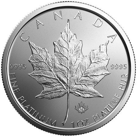 Platynowa Moneta Liść Klonu 1 uncja