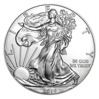 Srebrna Moneta Amerykański Orzeł 1 uncja 2019r/2020r 24h