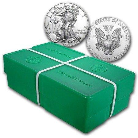 Zestaw Srebrna Moneta Amerykański Orzeł 500x1oz