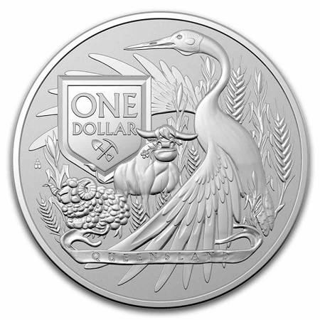 Srebrna Moneta Australijski Herb 1 uncja 24h