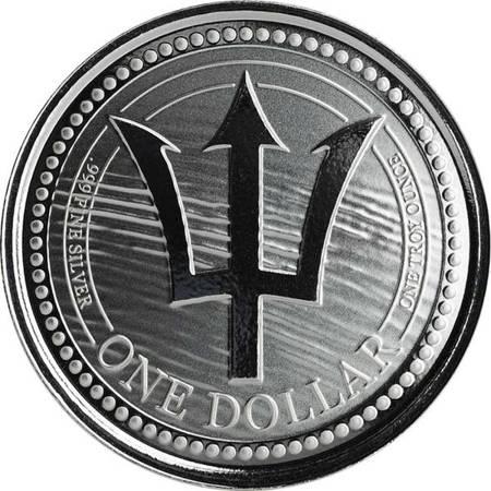 Srebrna Moneta Barbados Trident 1 uncja LIMITOWANA