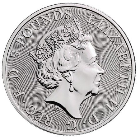 Srebrna Moneta Bestie Królowej: Biały Koń Hanoweru 2 uncje