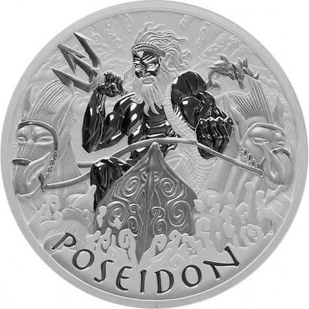 Srebrna Moneta Bogowie Olimpu: Posejdon 1 uncja 24h