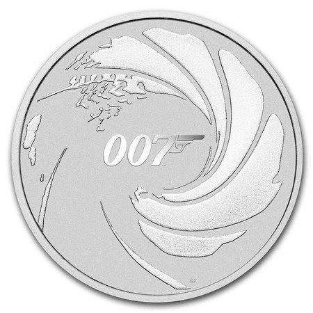 Srebrna Moneta James Bond 007 1 uncja 24h