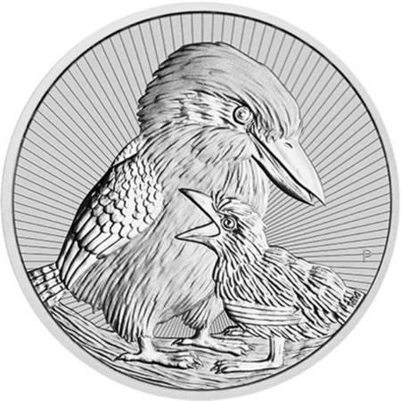 Srebrna Moneta Kookaburra Matka i Dziecko 2 uncje LIMITOWANA