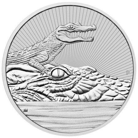 Srebrna Moneta Krokodyl 2 uncje