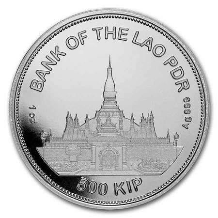 Srebrna Moneta Laos Tiger 1 uncja 24h
