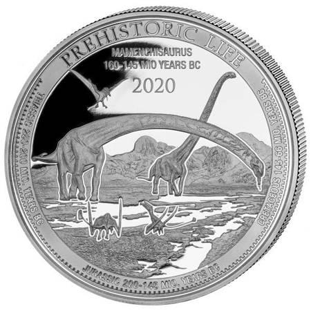 Srebrna Moneta Mamenchisaurus 1 uncja LIMITOWANA