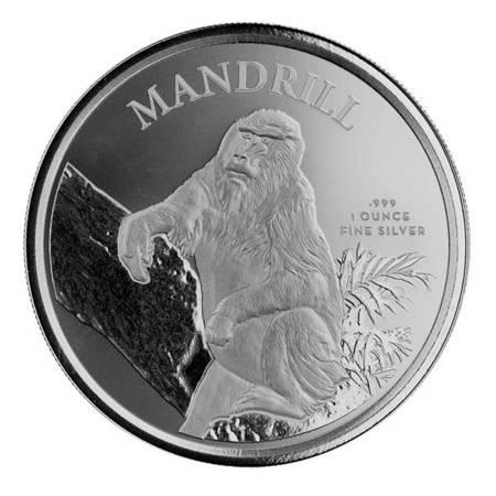 Srebrna Moneta Mandrill 1 uncja 24h