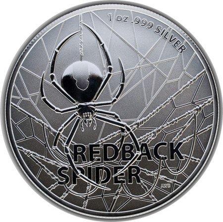 Srebrna Moneta Najniebezpieczniejsze Stworzenia Australii: Redback Spider 1 uncja