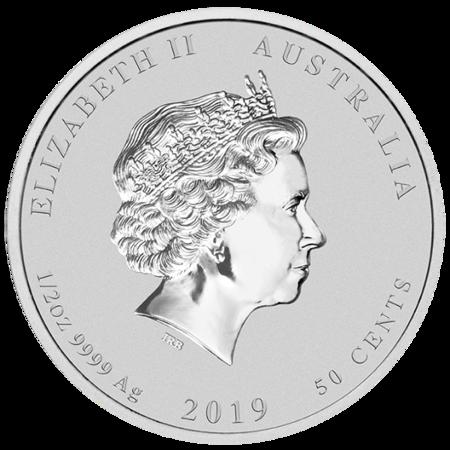 Srebrna Moneta Rok Świni 1/2 uncji 24h