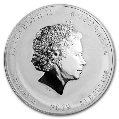 Srebrna Moneta Rok Świni 5 uncji
