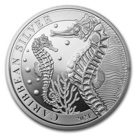 Srebrna Moneta Samoa - Konik Morski 1 uncja 24h