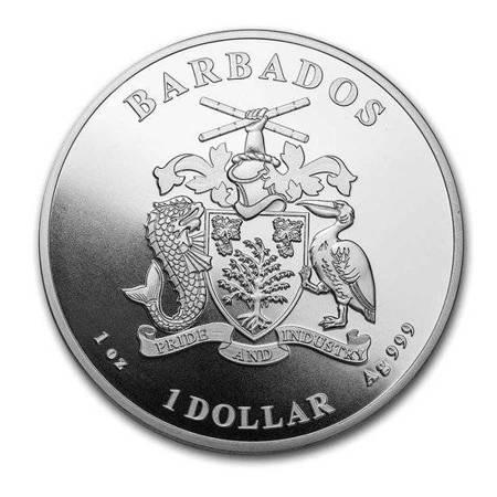 Srebrna Moneta Samoa - Konik Morski 1 uncja LIMITOWANA
