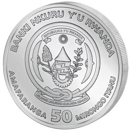 Srebrna Moneta Shoebill - African Ounce 1 uncja 2019r 24h
