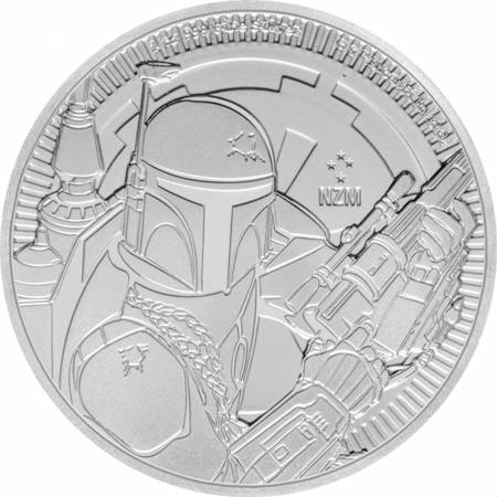 Srebrna Moneta Star Wars - Boba Fett 1 uncja 24h