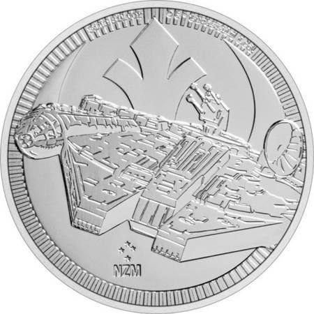 Srebrna Moneta Star Wars - Millennium Falcon 1 uncja 24h