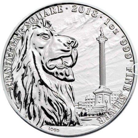 Srebrna Moneta Trafalgar Square 1 uncja 2018r 24h