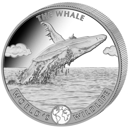 Srebrna Moneta Wieloryb 1 uncja 24h