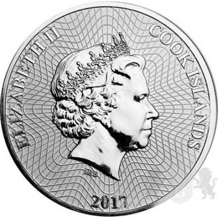 Srebrna Moneta Wyspy Cooka 1 uncja 2017r 24h