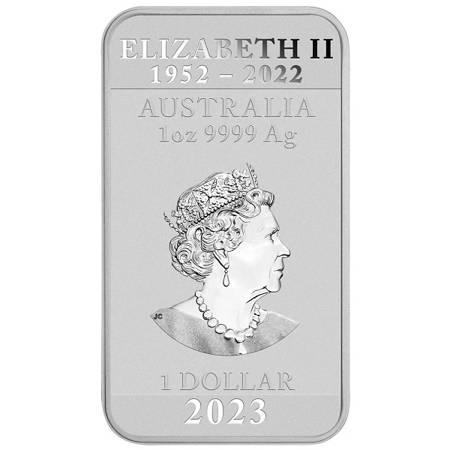 Srebrna Sztabko-Moneta Chiński Smok 1 uncja 24h