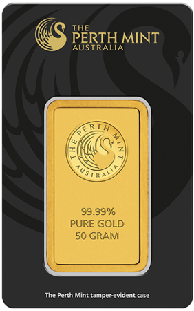 Sztabka Złota CertiCard 50g