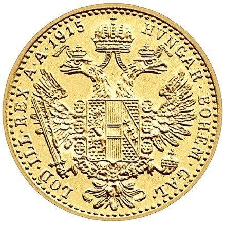 Złota Moneta 1 Dukat Austriacki Nowe Bicie 3.49g