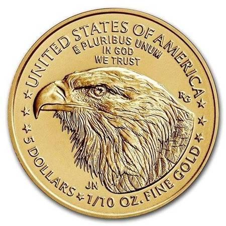 Złota Moneta Amerykański Orzeł 1/10 uncji