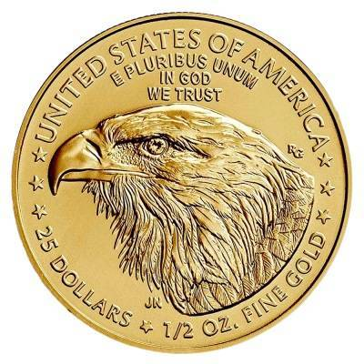 Złota Moneta Amerykański Orzeł 1/2 uncji 24h