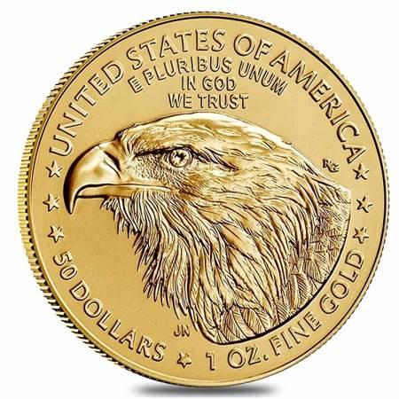 Złota Moneta Amerykański Orzeł - NOWY MOTYW 1 uncja NOWOŚĆ