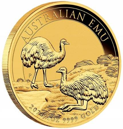 Złota Moneta Australijski Emu 1 uncja 2019r LIMITOWANA