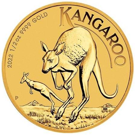 Złota Moneta Australijski Kangur 1/2 uncji