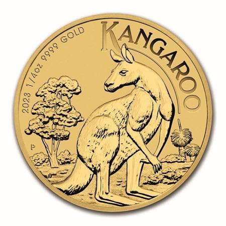 Złota Moneta Australijski Kangur 1/4 uncji 24h