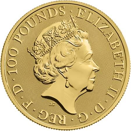 Złota Moneta Bestie Królowej: Biały Chart z Richmond 1 uncja