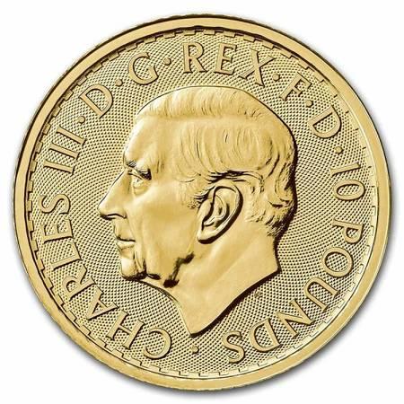 Złota Moneta Britannia 1/10 uncji 24h