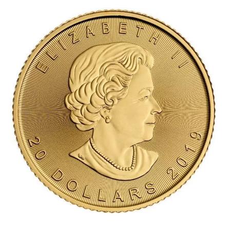 Złota Moneta Kanadyjski Liść Klonowy 1/2 uncji 24h