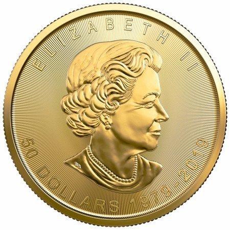 Złota Moneta Kanadyjski Liść Klonowy 1 uncja - 40. rocznica