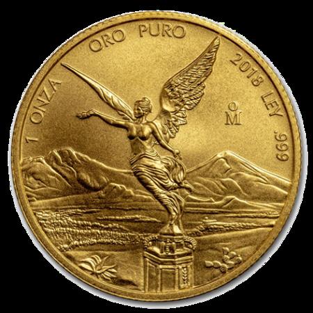 Złota Moneta Meksykańska Bogini Wolności 1/4 uncji 24h