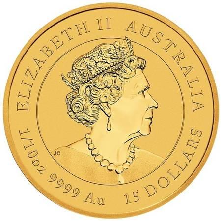 Złota Moneta Rok Bawoła 1/10 uncji