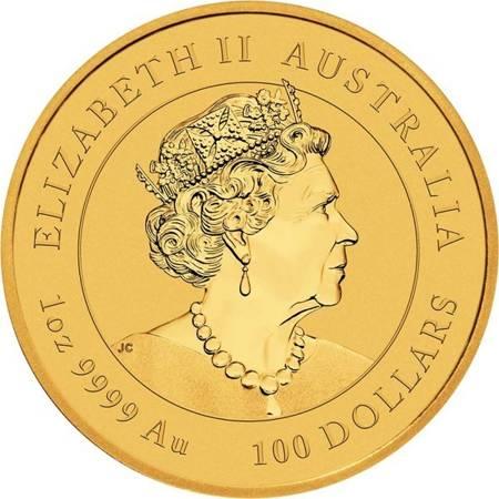 Złota Moneta Rok Bawoła 1 uncja