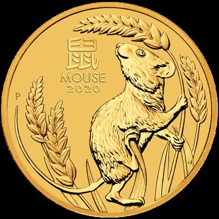 Złota Moneta Rok Myszy 1/20 uncji 24h