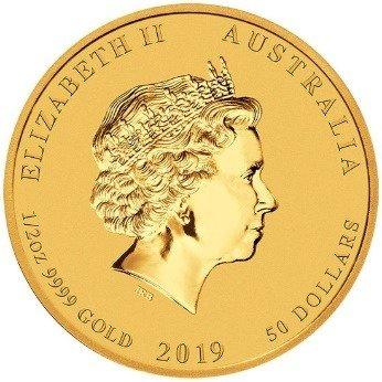 Złota Moneta Rok Świni 1/2 uncji 24h