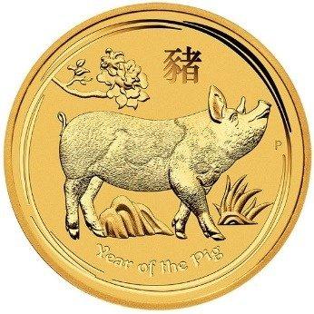 Złota Moneta Rok Świni 1/20 uncji 24h