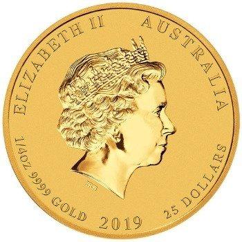 Złota Moneta Rok Świni 1/4 uncji 24h