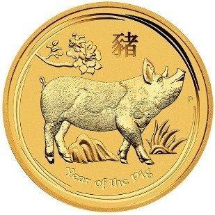 Złota Moneta Rok Świni 2 uncje