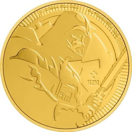 Złota Moneta Star Wars - Darth Vader 1 uncja 24h